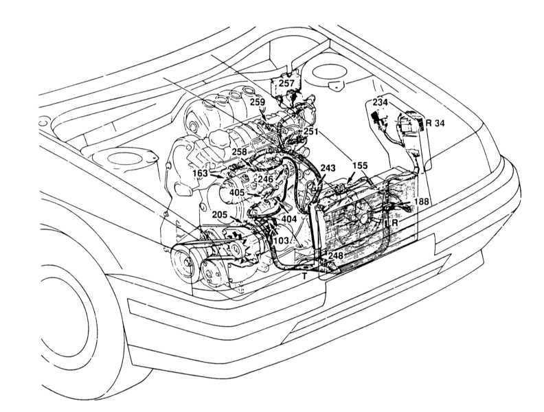 Рисунок моторного отсека
