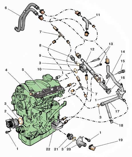 5 – трубка системы охлаждения