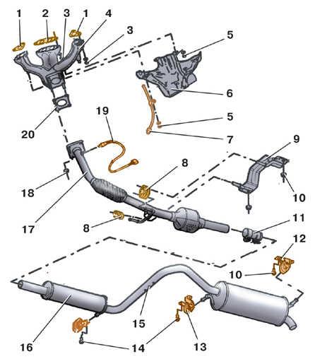 приемной трубы глушителя