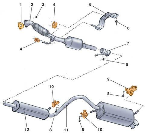 система выпуска отработавших газов реферат