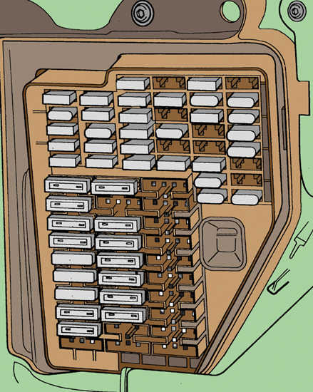 Блок предохранителей в панели