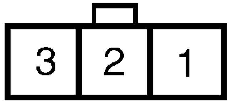 """Схема размещения контактных клемм в разъеме датчика  """"G """" ."""
