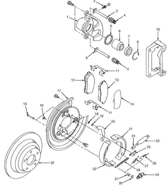 Схема сборки тормозных колодок