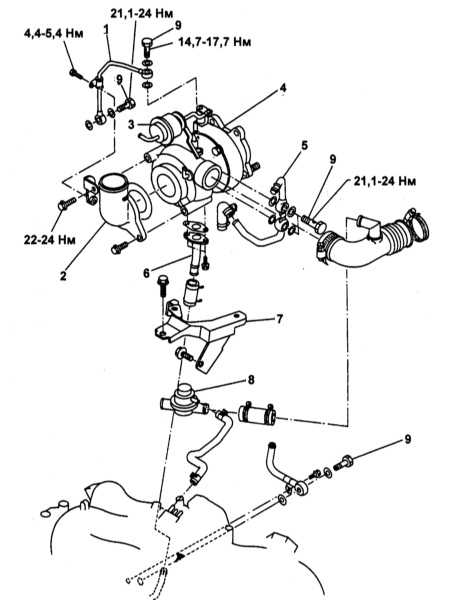 1 — Трубка подвода масла