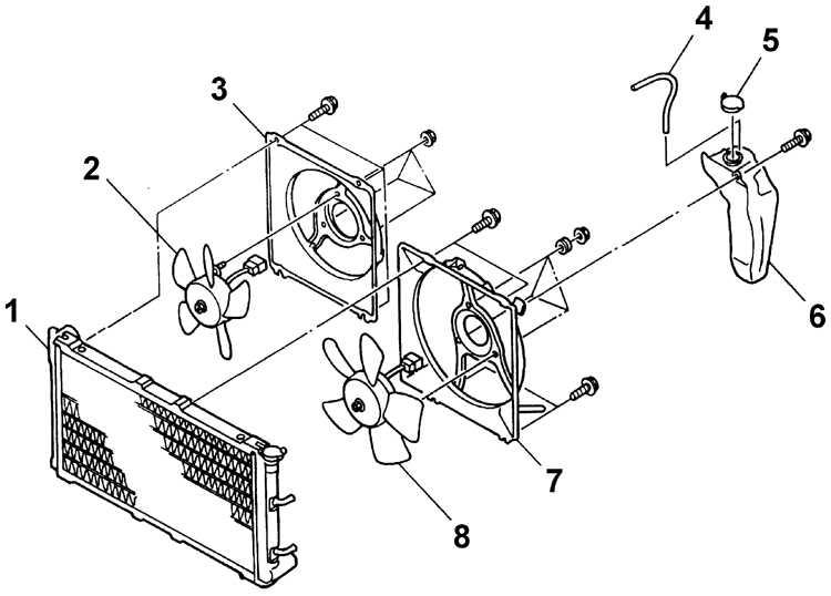 2 – дополнительный вентилятор