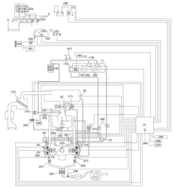 1 — ECM 2 — Модуль зажигания