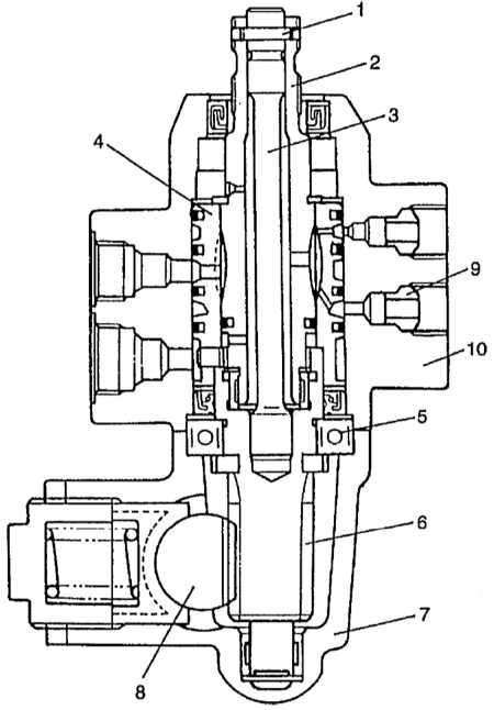 7 — корпус рулевой рейки