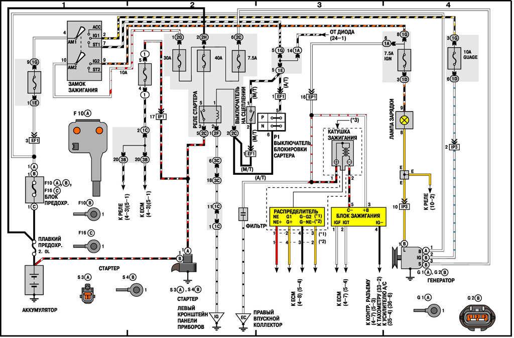 Электросхема системы питания