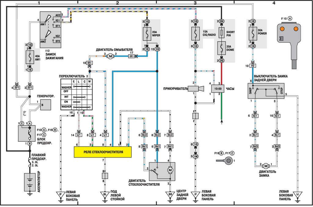 Электросхема освещения