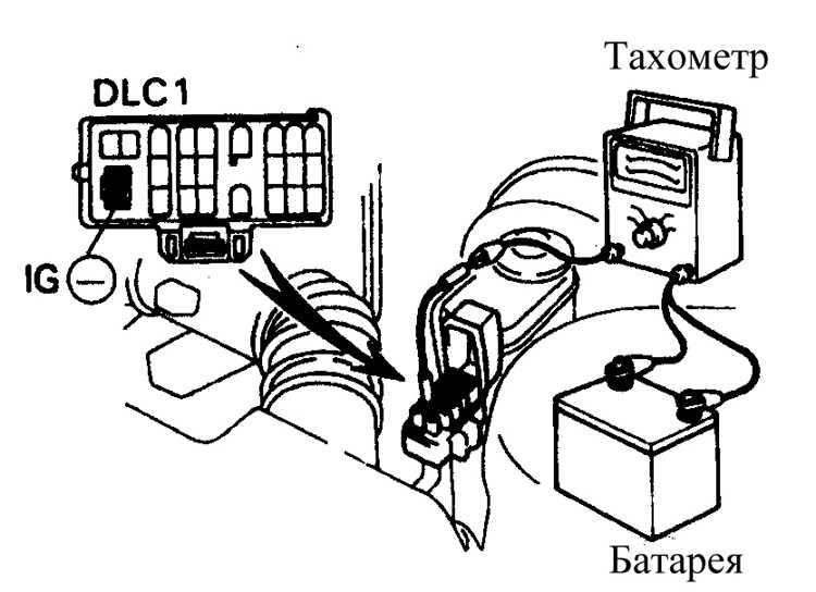 Подключение тахометра к выводу