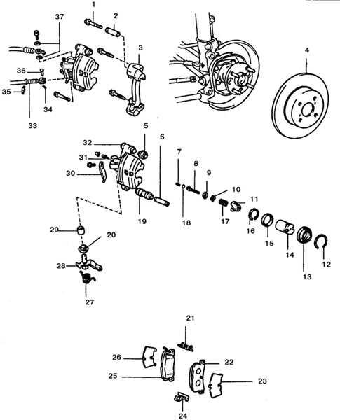 ремкомплект пружинок стояночного тормоза опель фронтера в