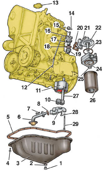 охладитель масла двигателя опель