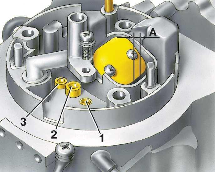 1 – топливный жиклер холостого