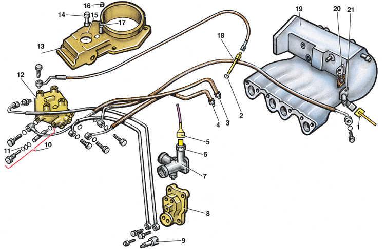 8 – клапан прогрева двигателя;