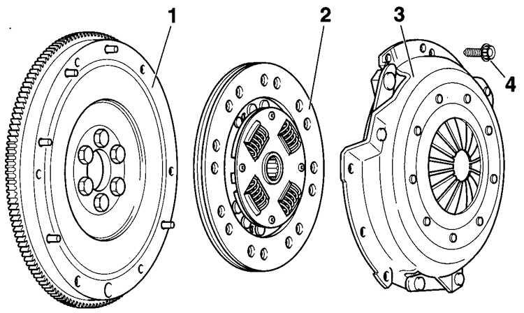 2 – диск сцепления