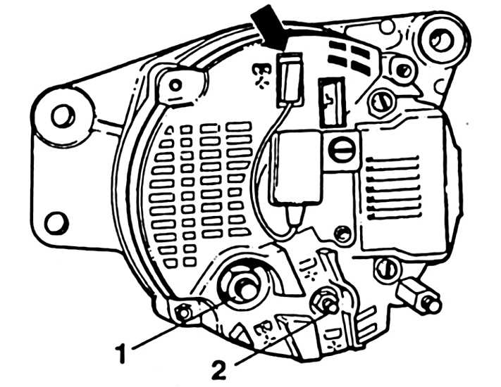 Схема включения генератора) от