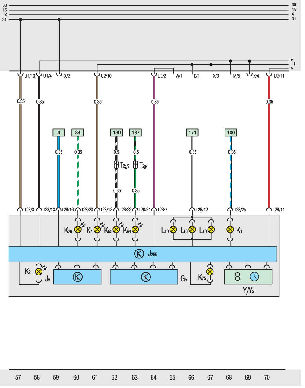 схема обогрева заднего стекла на фольксваген т4